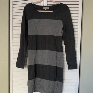 Banana republic cotton striped sweater dress